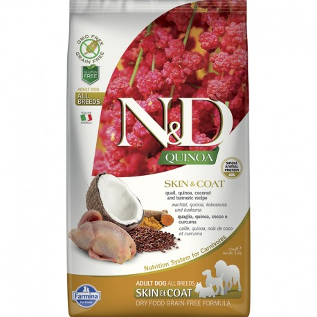 Farmina Skin&Coat Codorn Quinoa Perro 2,5Kg