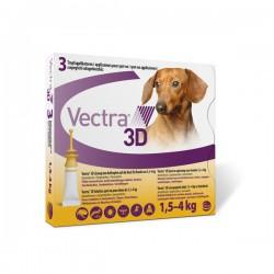 Vectra 3D Dog 1.5-4Kg 3 Pip