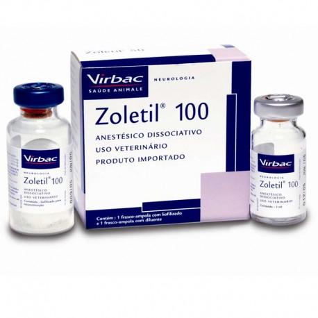 Zoletil -100 - 5Ml Anestesico Inyectable