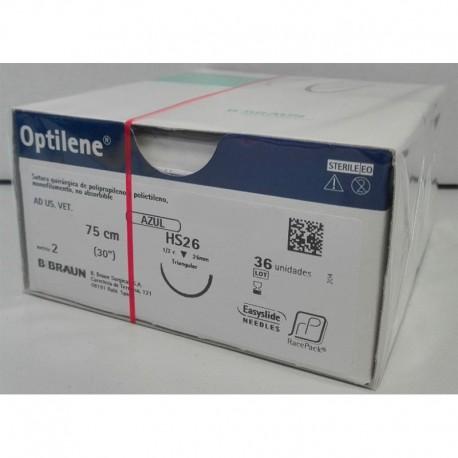 Optilene Racepack 2/0 Ds24 - 75Cm 36Uds