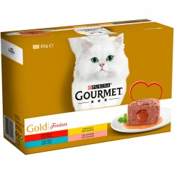 Gourmet Gold Fondant Pll,Buey,Atun,SalM.Mp 12x85gr