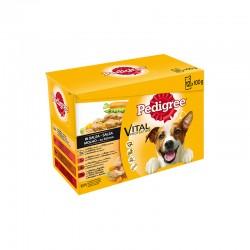 Pedigree Bolsa Pack Mix Carne 4X12X100Gr