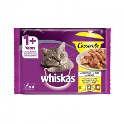 Whiskas 4Pack Casserole 1+ Aves 13X4X85Gr