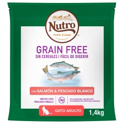 Nutro GF Gato Adulto Salmon 1,4Kg PVPR 9,99