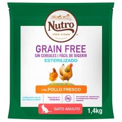 Nutro GF Gato Adul.Esteriliz.Pollo 1,4Kg PVPR 9,99