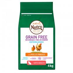 Nutro GF Esteriliz.Gato Adult.Pollo 4Kg PVPR 24,99
