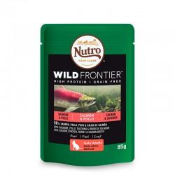 Nutro W.Frontier Gato Pouch Salmon/Pollo 24X85Gr