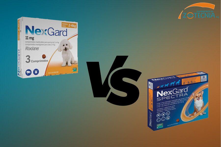 Nexgard y Nexgard Spectra: ¿en qué se diferencian?