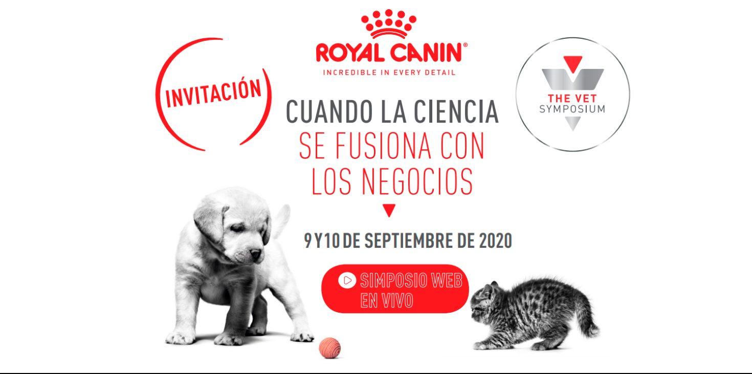 the vet symposium cartel del ciclo de conferencias online de royal canin 2020