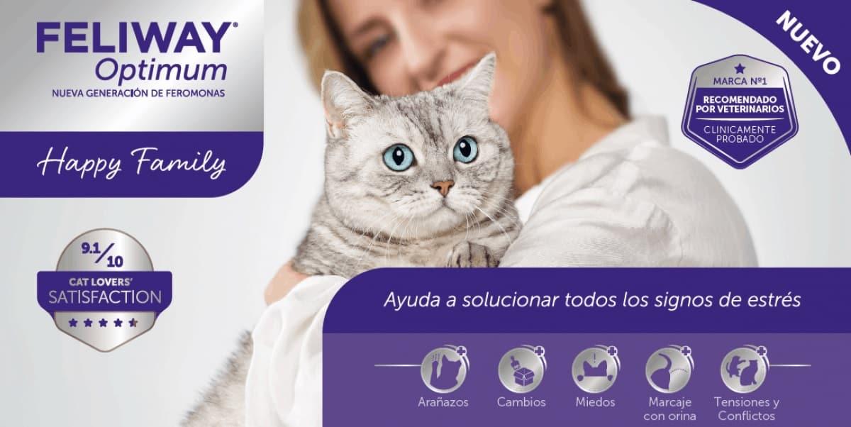 nuevo feliway optimum complejo de feromonas felinas